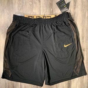 Nike Elite Basketball Shorts Men's 2XL Black Gold